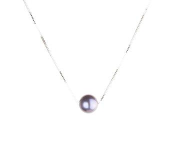Negro 10-10.5mm Calidad AAA Colgante de Perla de Agua Dulce y Plata esterlina 925