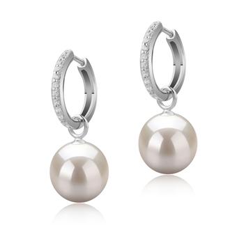 Rosalind Blanco 10-11mm Calidad AAAA Pendientes de Perlas de Agua Dulce y Plata esterlina 925