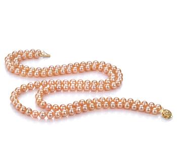 Ulrike Rosa 6-7mm Calidad AA Collar de Perlas de Agua Dulce