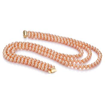 Verena Rosa 6-7mm Calidad AA Collar de Perlas de Agua Dulce