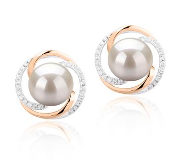 Zina Blanco 8-9mm Calidad AAAA Pendientes de Perlas de Agua Dulce y Plata esterlina 925