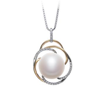 Zina Blanco 12-13mm Calidad AA Colgante de Perla de Agua Dulce y Plata esterlina 925