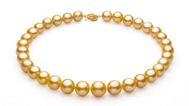 View Golden South Sea Pearl Necklace collection